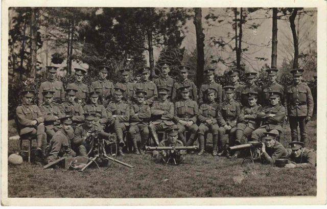 5th (Flintshire) Battalion (TF) Machine Gun section 1915